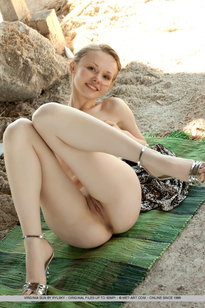 Girl with cute face posing outdoor